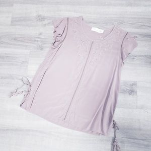 Time and true mauve top